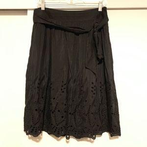 Ann Taylor Silk Lasercut A-Line Skirt Sz 6